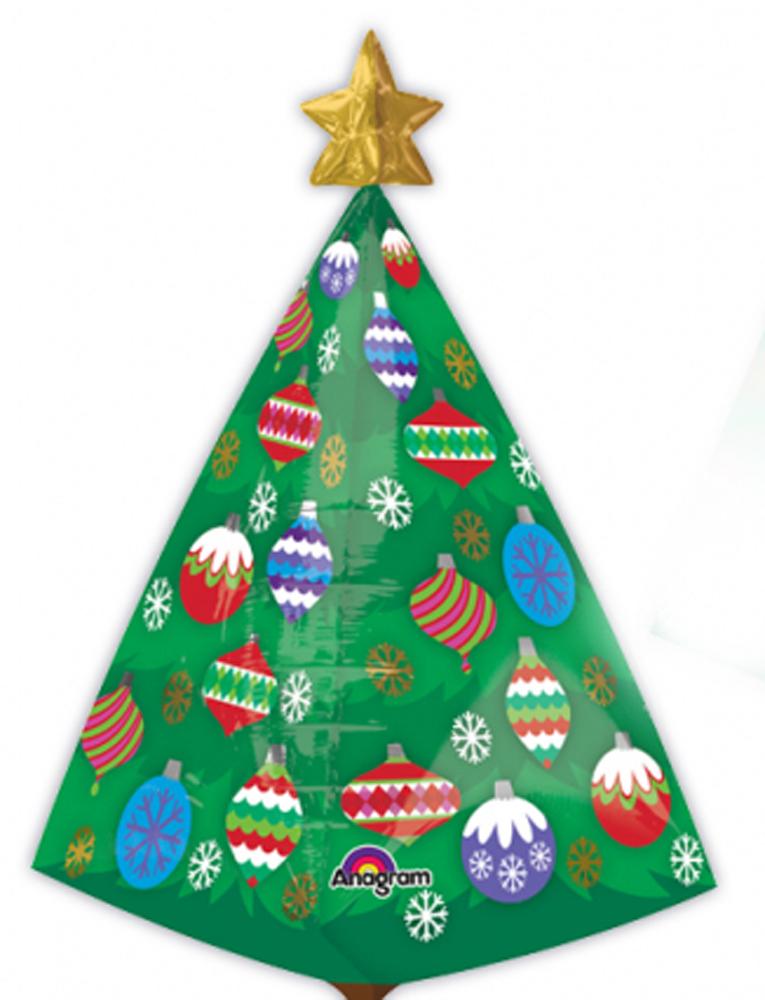 Albero Di Natale Grande.Dettagli Su Albero Di Natale Grande Ultra Forma Natale Palloncino Decorazione Feste
