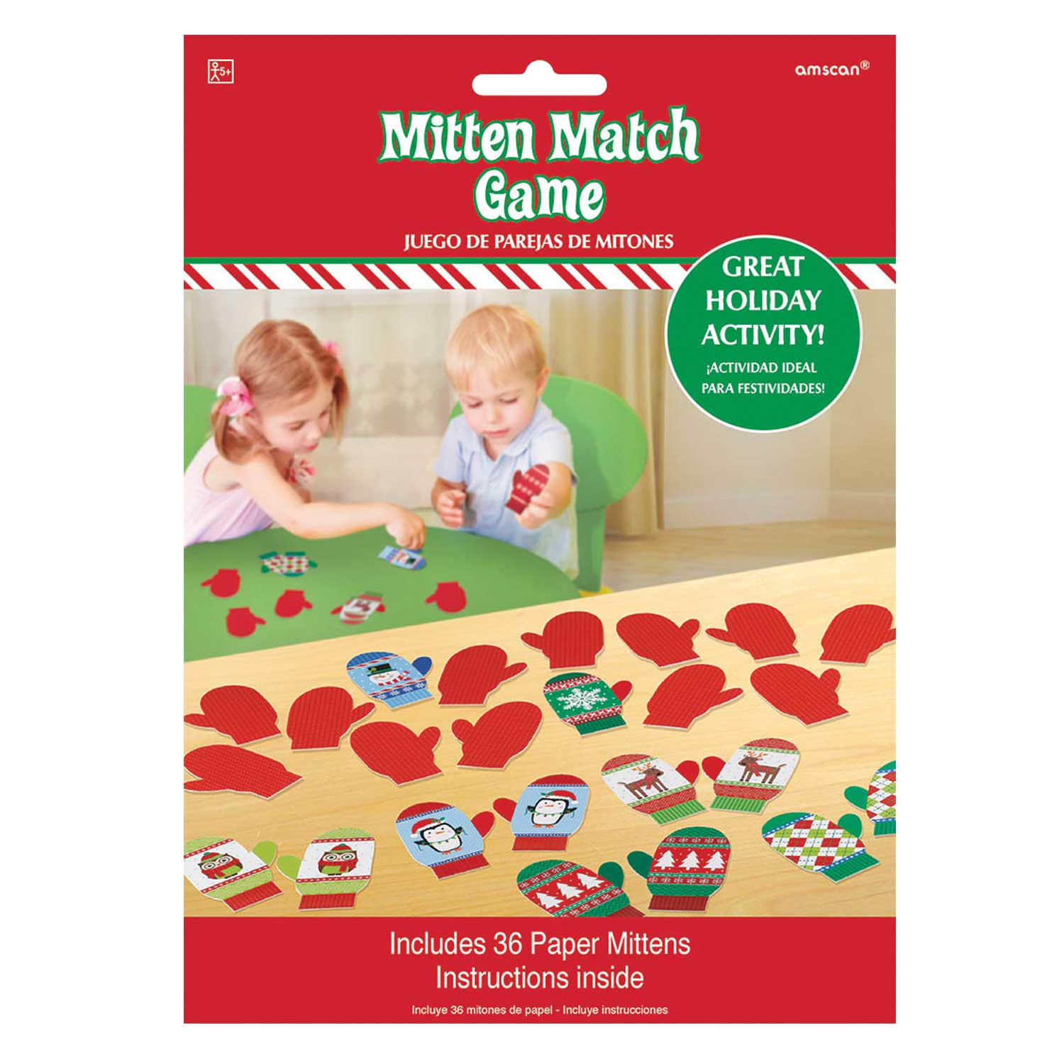 Christmas Matching Pairs Childs Mitten Match Party Game  Christmas Family Fun