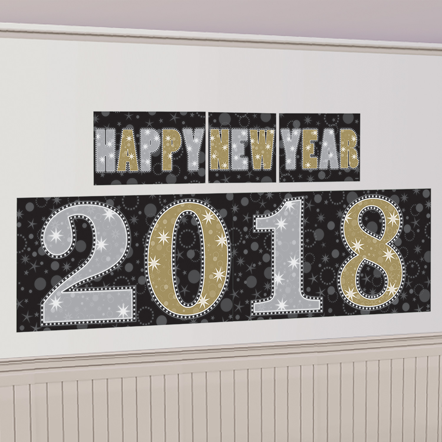 Extra Large New Year Banner Poster Party Wall Decorations ...