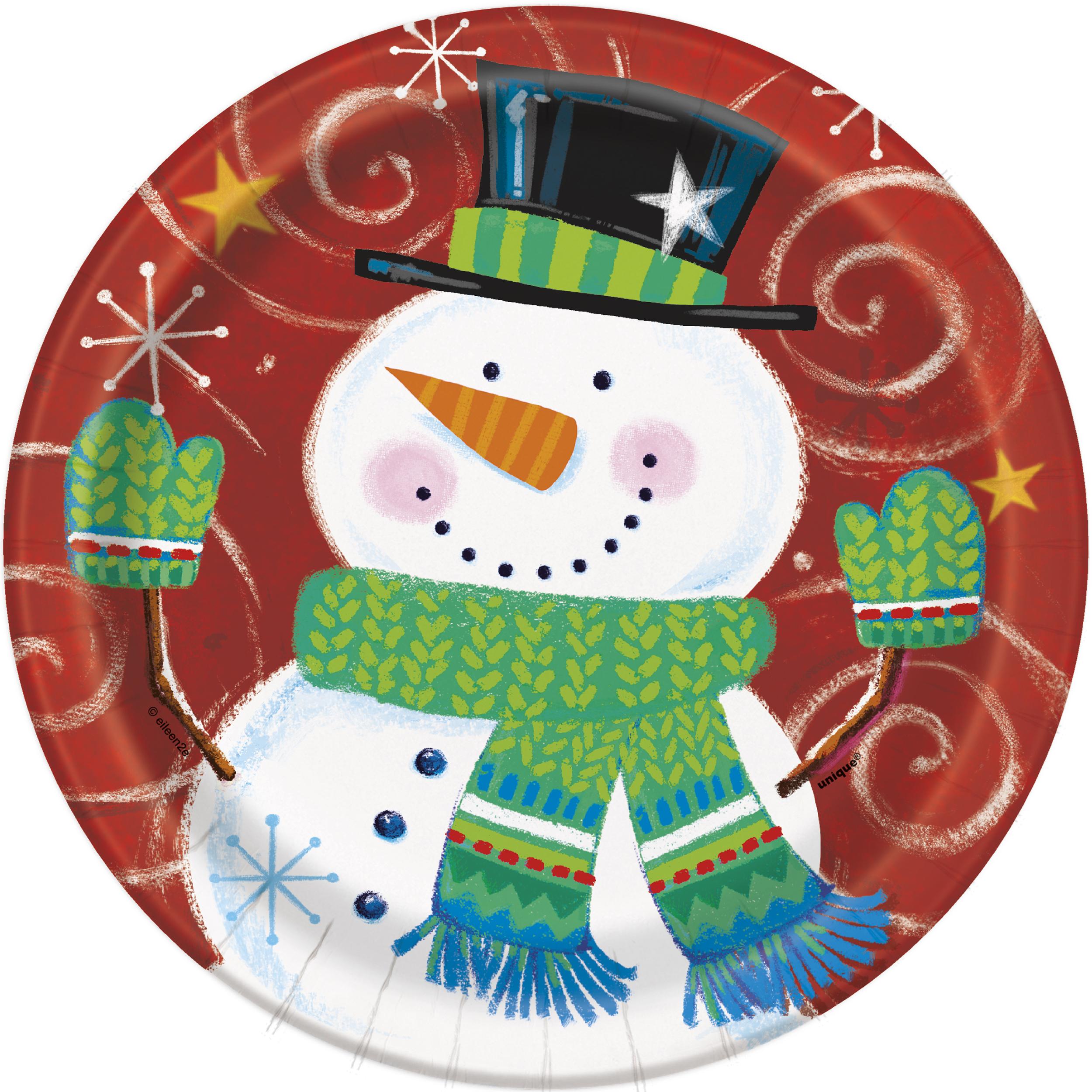 The Snowman /& The Snowdog Christmas Party Dinner Plates x 8