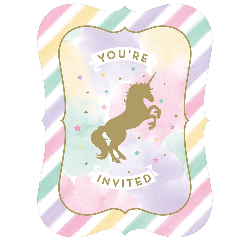 8 x unicorn sparkle party invitations invite cards unicorn party 8 x unicorn sparkle party invitations invite cards unicorn party stopboris Choice Image