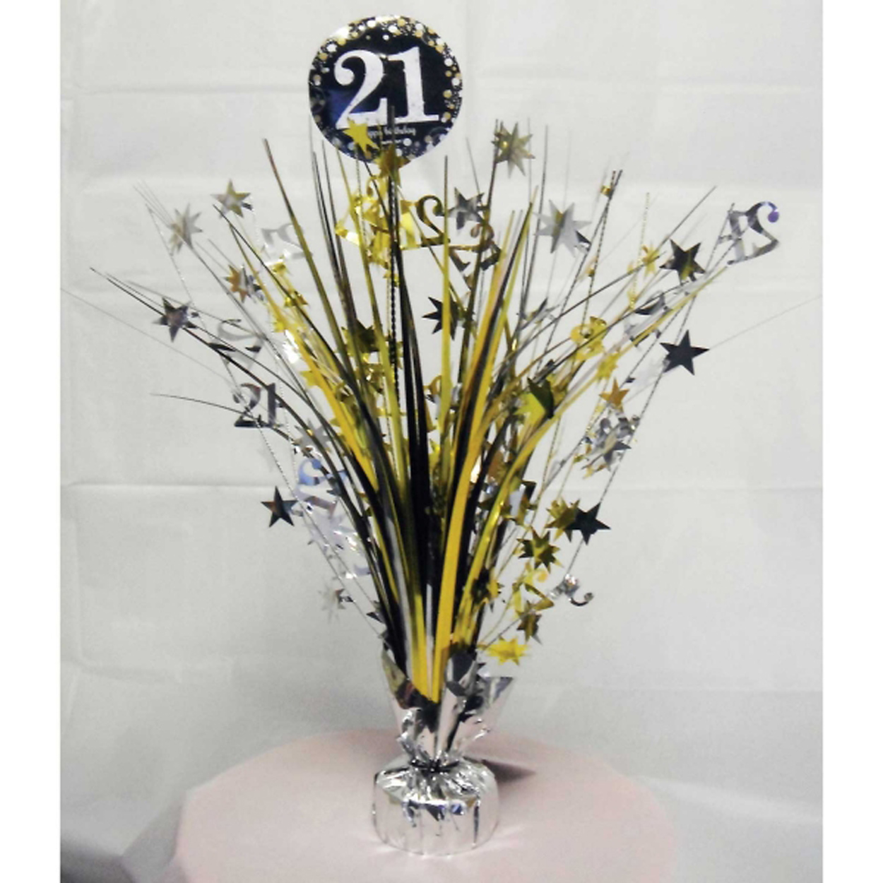 21st birthday spray centrepiece table decoration black for 21st birthday decoration