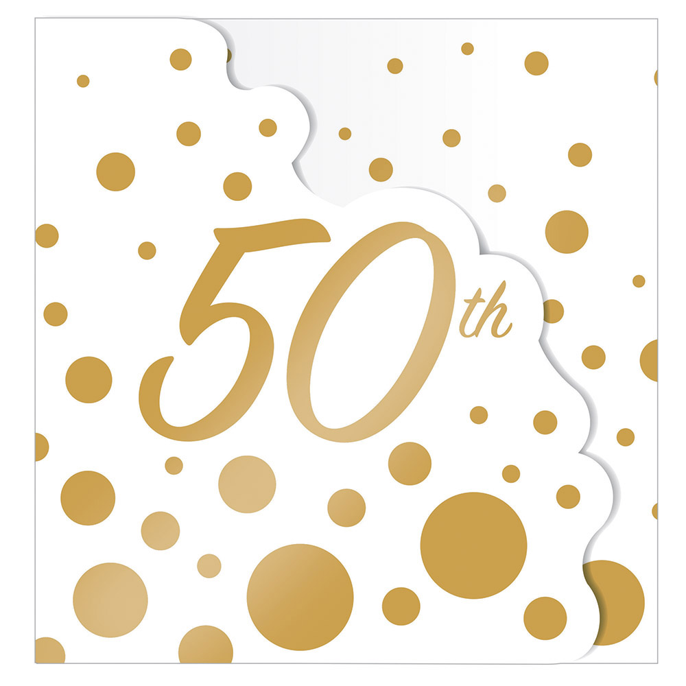 8 x Golden Wedding Party Invitation Cards 50th Anniversary ...
