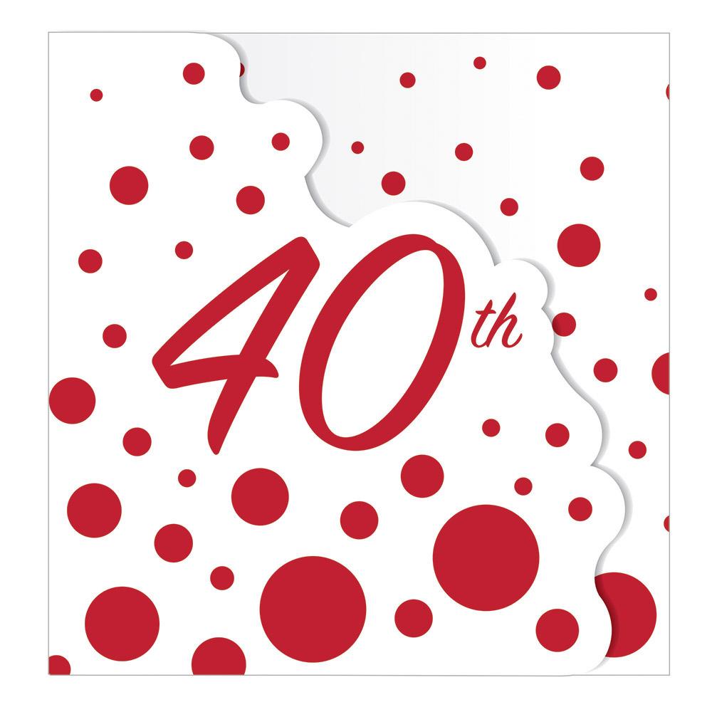 Detalles De 8x Rubí Fiesta Boda Invitación Tarjetas 40th Aniversario Cumpleaños Invitaciones