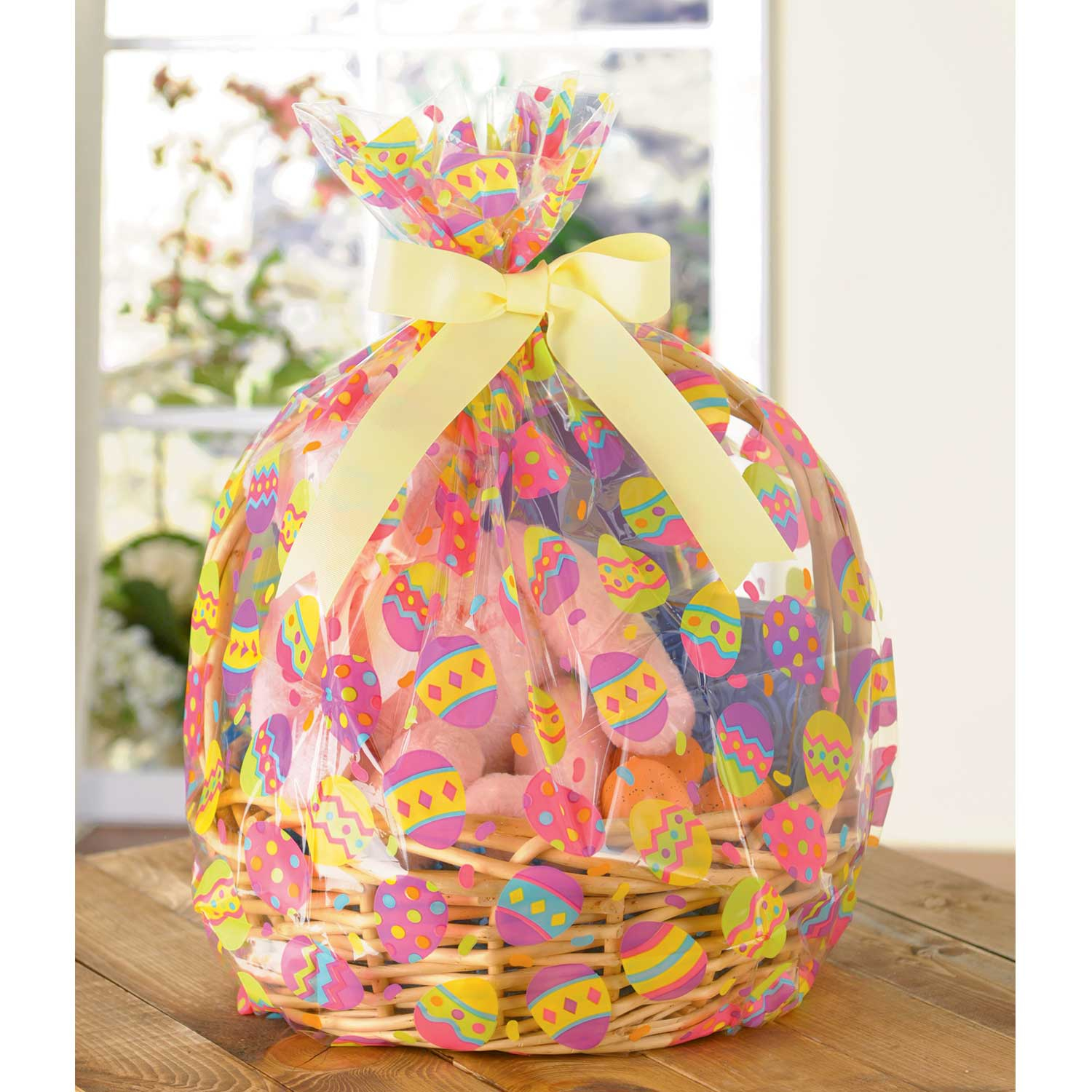 2 x easter eggs hamper wrap cellophane basket gift wrap large 2 x easter eggs hamper wrap cellophane basket gift wrap large cello basket bag negle Images