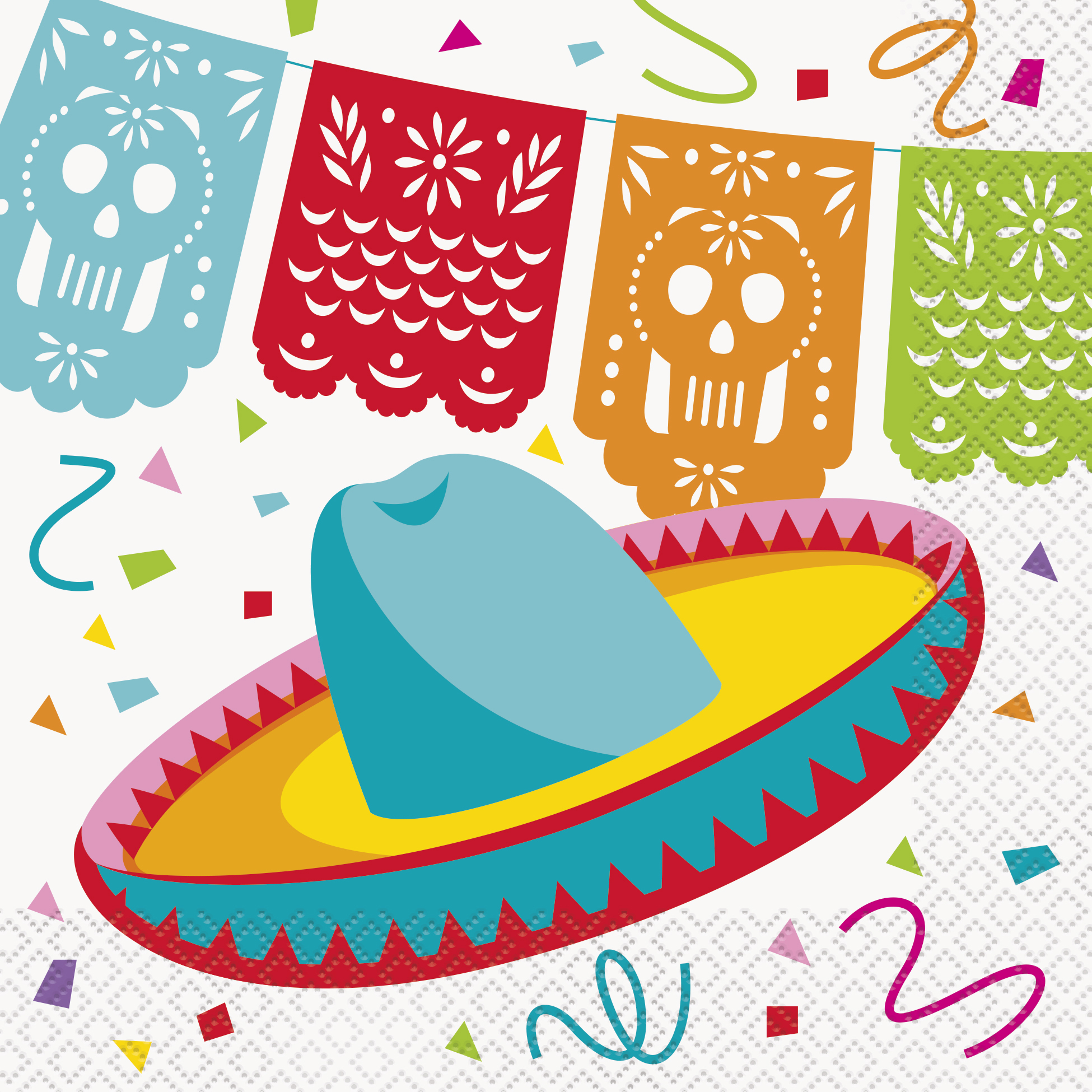 16 x mexican fiesta party napkins mexican party supplies fiesta