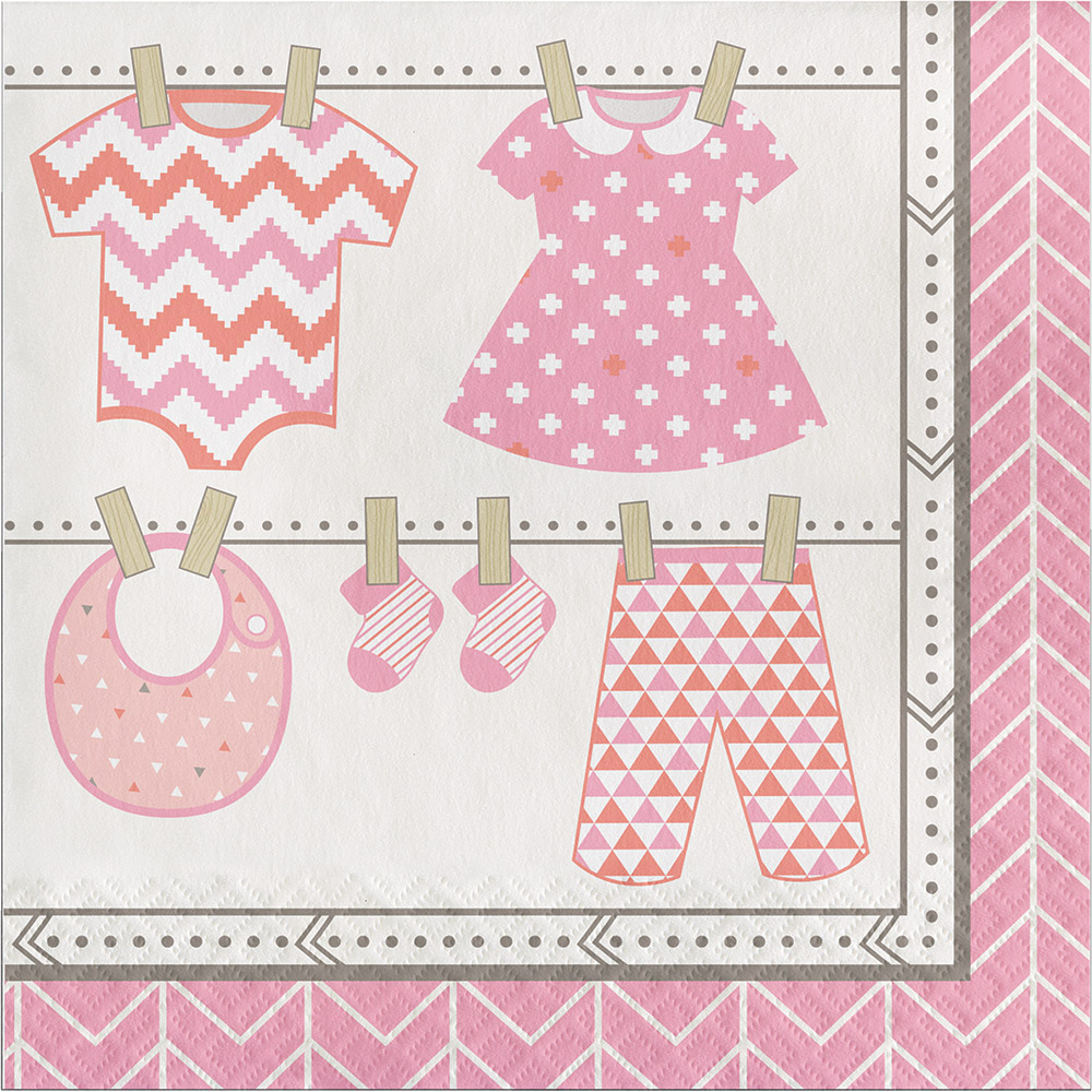 Details Zu 16 X Rosa Baby Servietten Baby Taufe Mädchen Bündel Von Joy Party Servietten