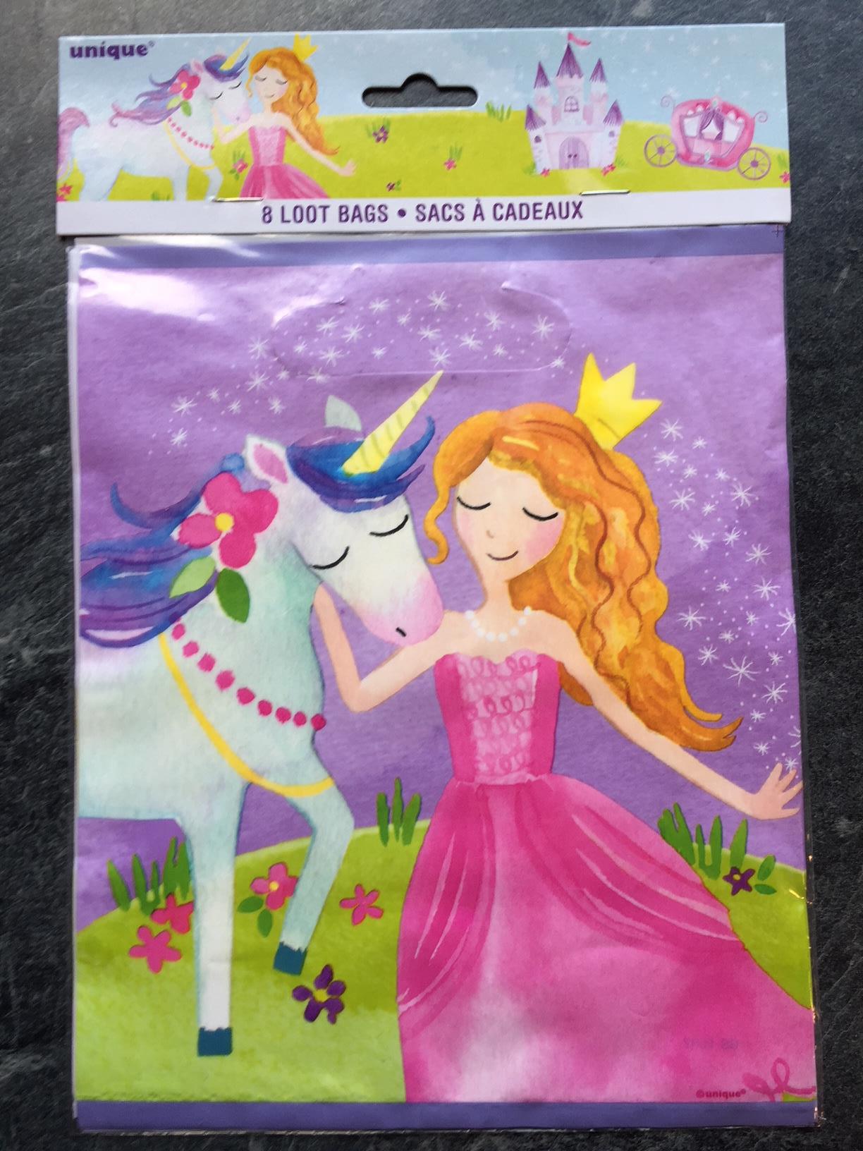 "6 PARTY TÜTEN BAGS 23x16,5cm Disneys Princess /""Tanz/"" Prinzessin Geschenktüte"