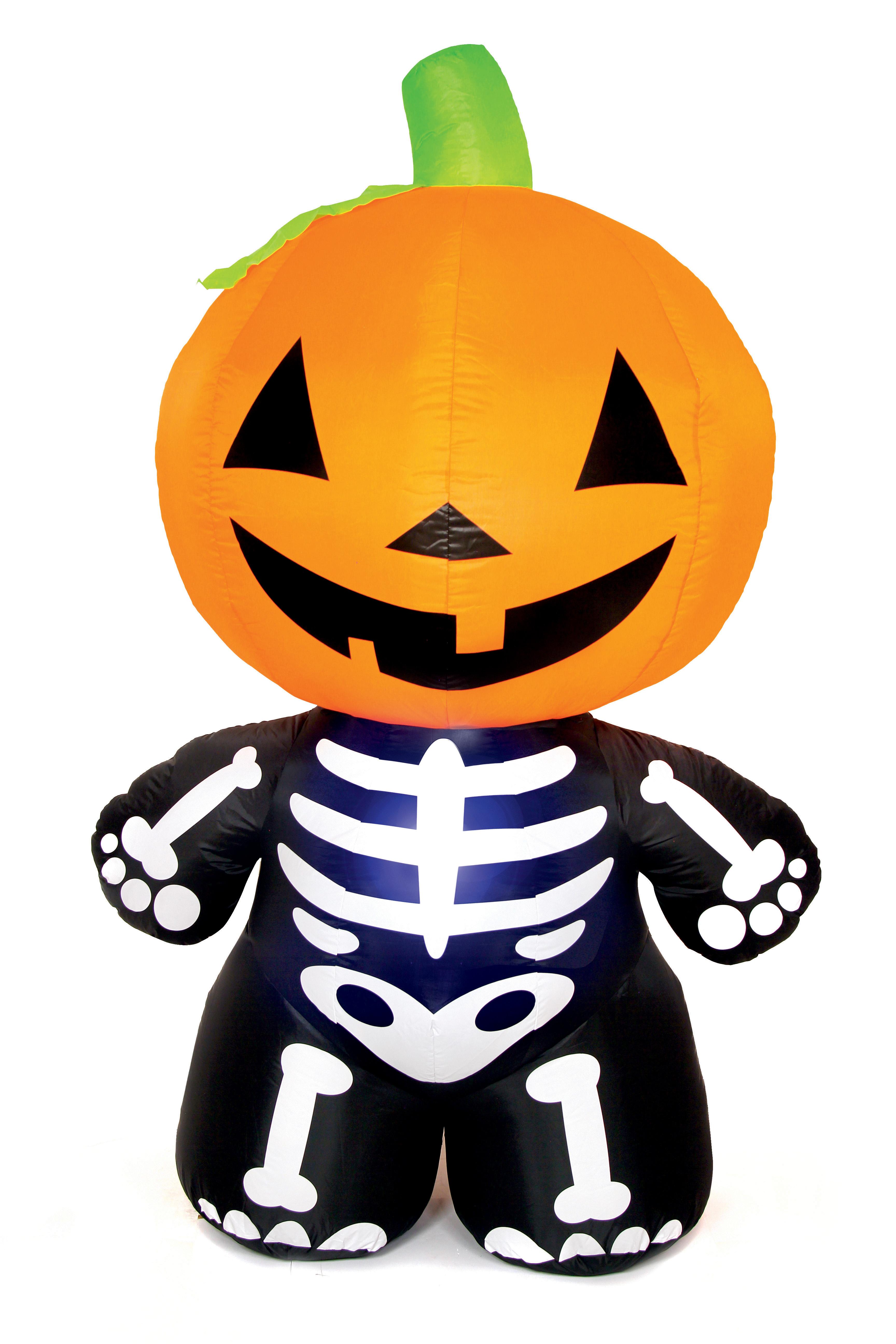 large inflatable halloween pumpkin skeleton 1.8 metres outdoor