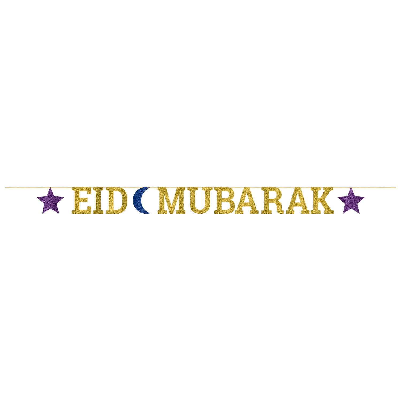 Amscan Eid Mubarak Glittery Letter Banner