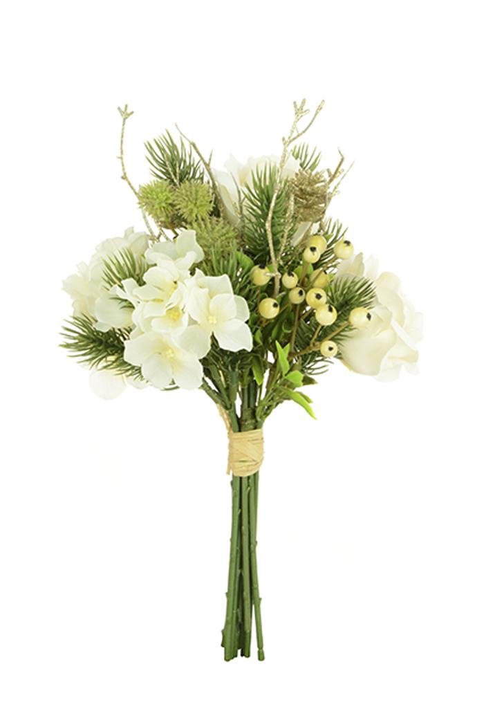 Weiß Französisch Rose Blume & Kiefer Blumenmuster Garnitur ...
