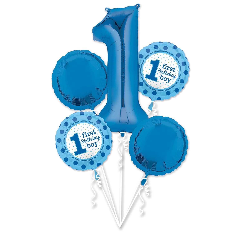 Age 4 Boy Birthday Foil Party Banner Balloons Happy 4th Feestartikelen