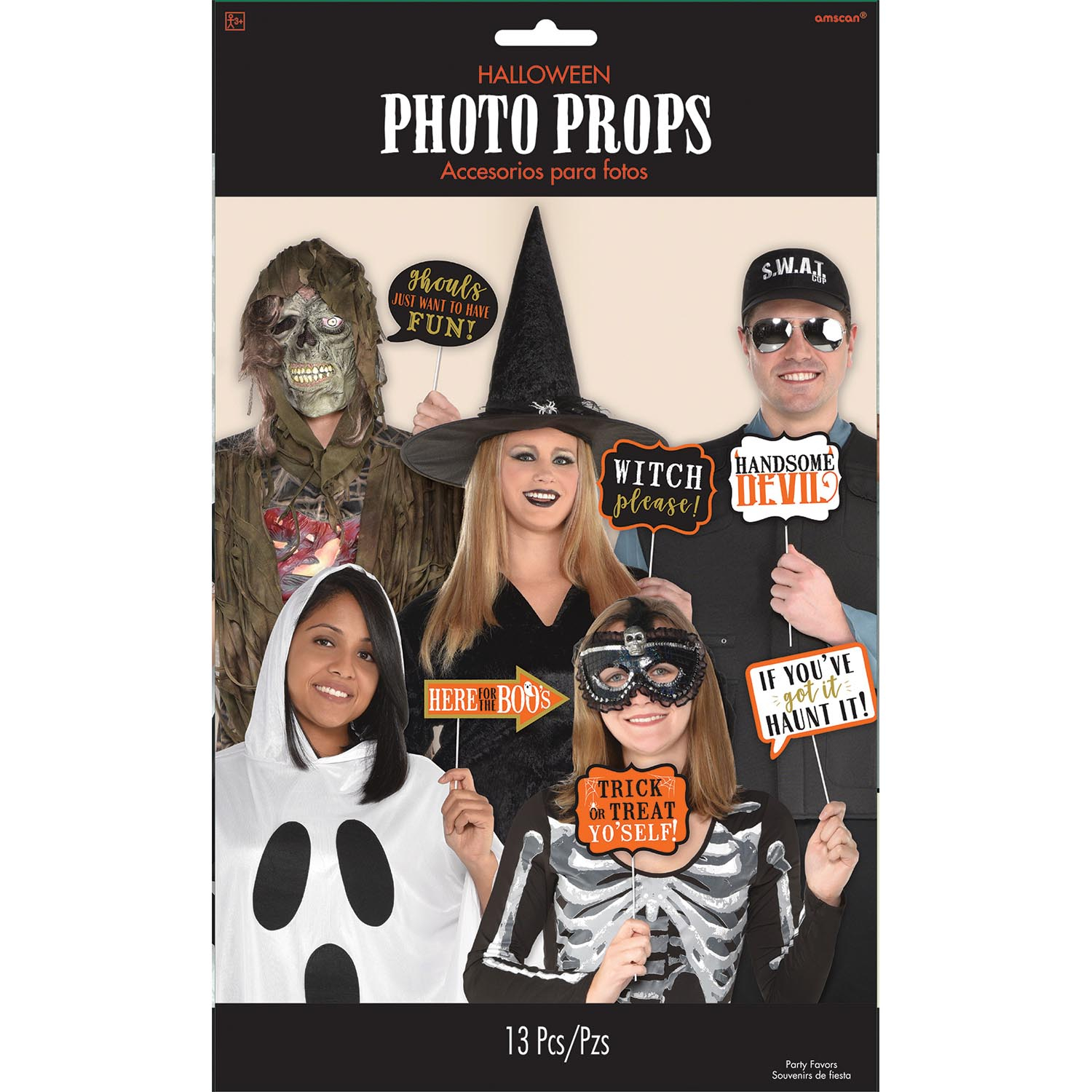 13 X Halloween Photo Booth Face Photo Frame Props Party Activity