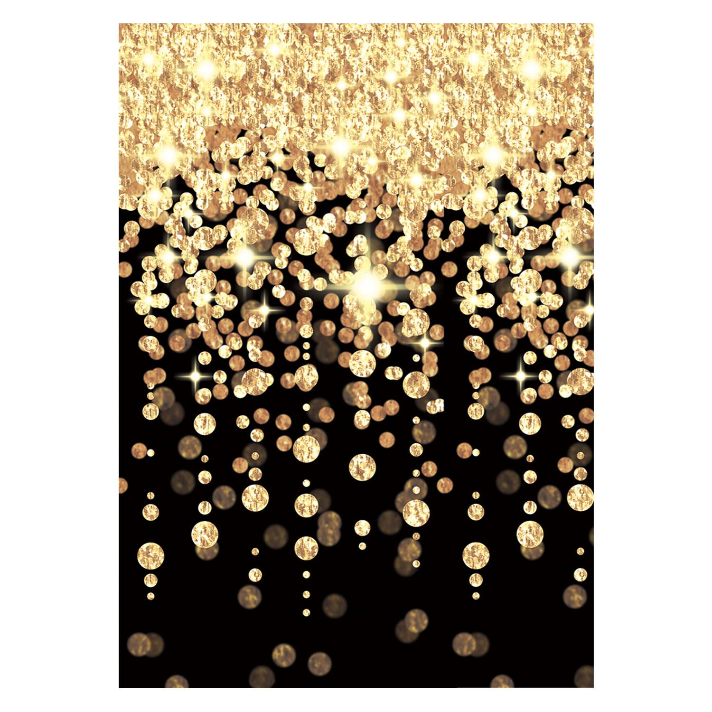 Genial Dekoration Wand Dekoration Von Kaskadierung Von Schwarzen & Gold Leuchtet Partyraum