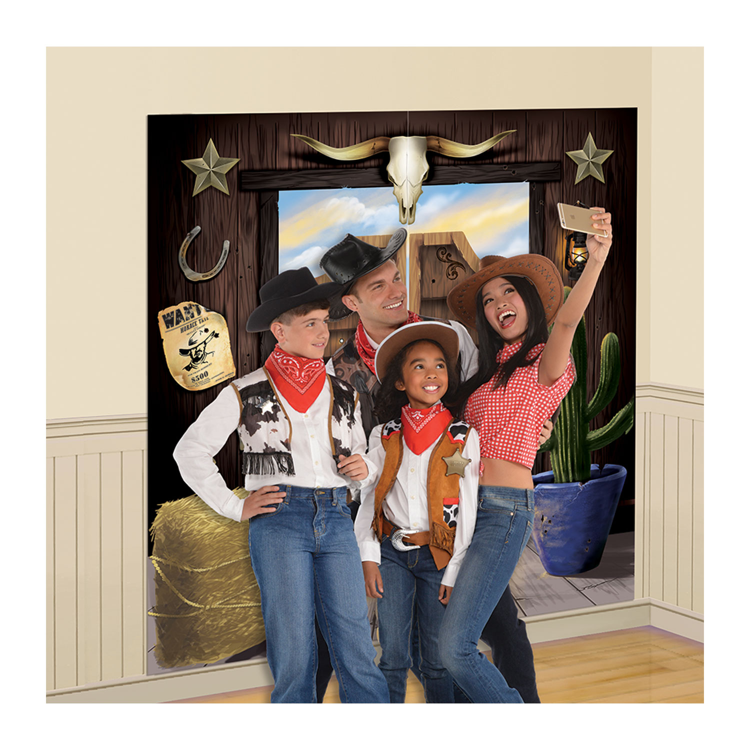 5ft Wild West Scene Decoration Selfie Photo Prop Cowboy