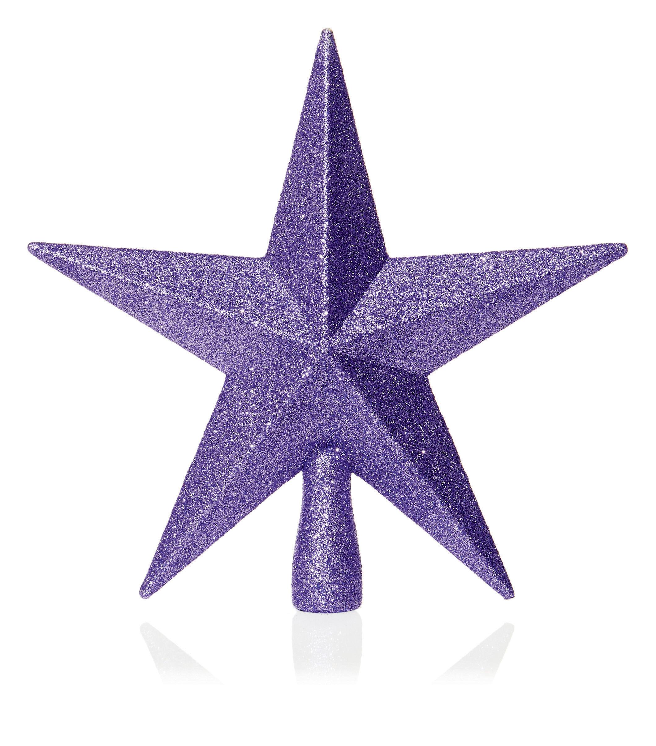 Albero Di Lillà dettagli su profondo lilla albero di natale top stella topper brillantini  finitura 20cm per
