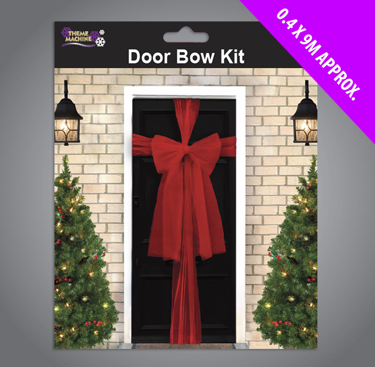 Red Christmas Door Bow Kit 9 Metres To Make Bow
