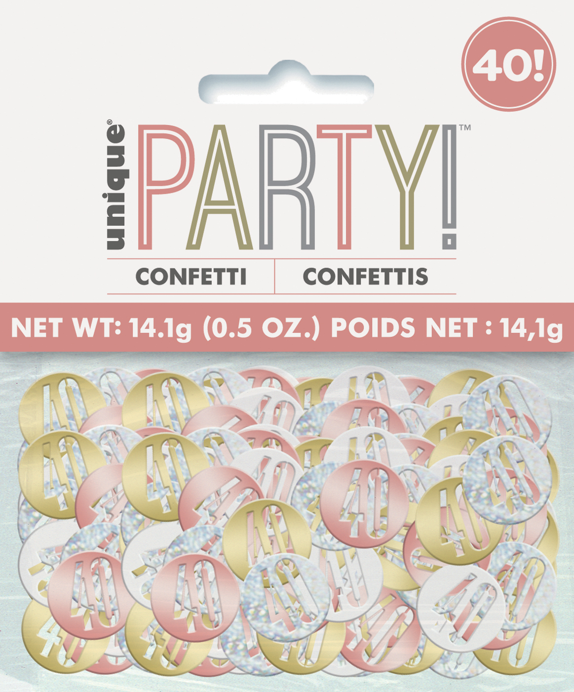 Tableware Rose Gold Table Confetti 40 Birthday Any Age Various Colours