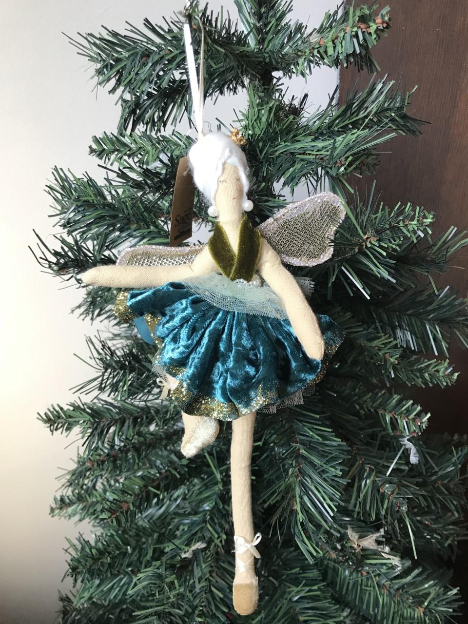 3 x Rose /& Or Plume Angel Wing Arbre de Noël Suspendu Décorations