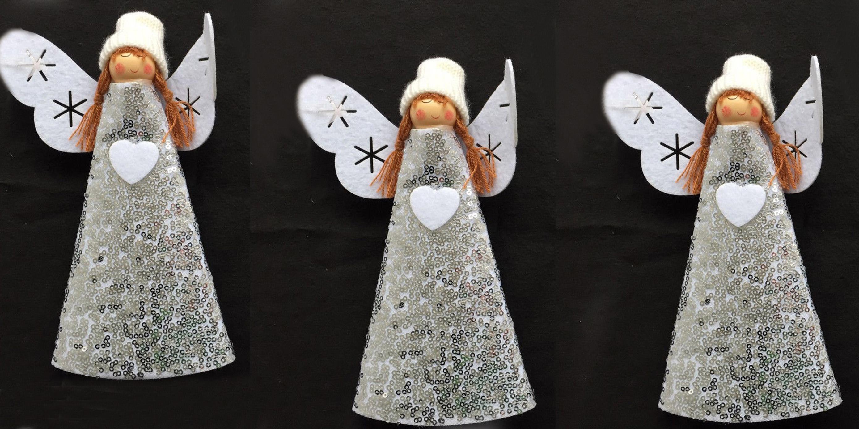 Cône Feutre Noël Angel décoration ou Tree Top 22 cm