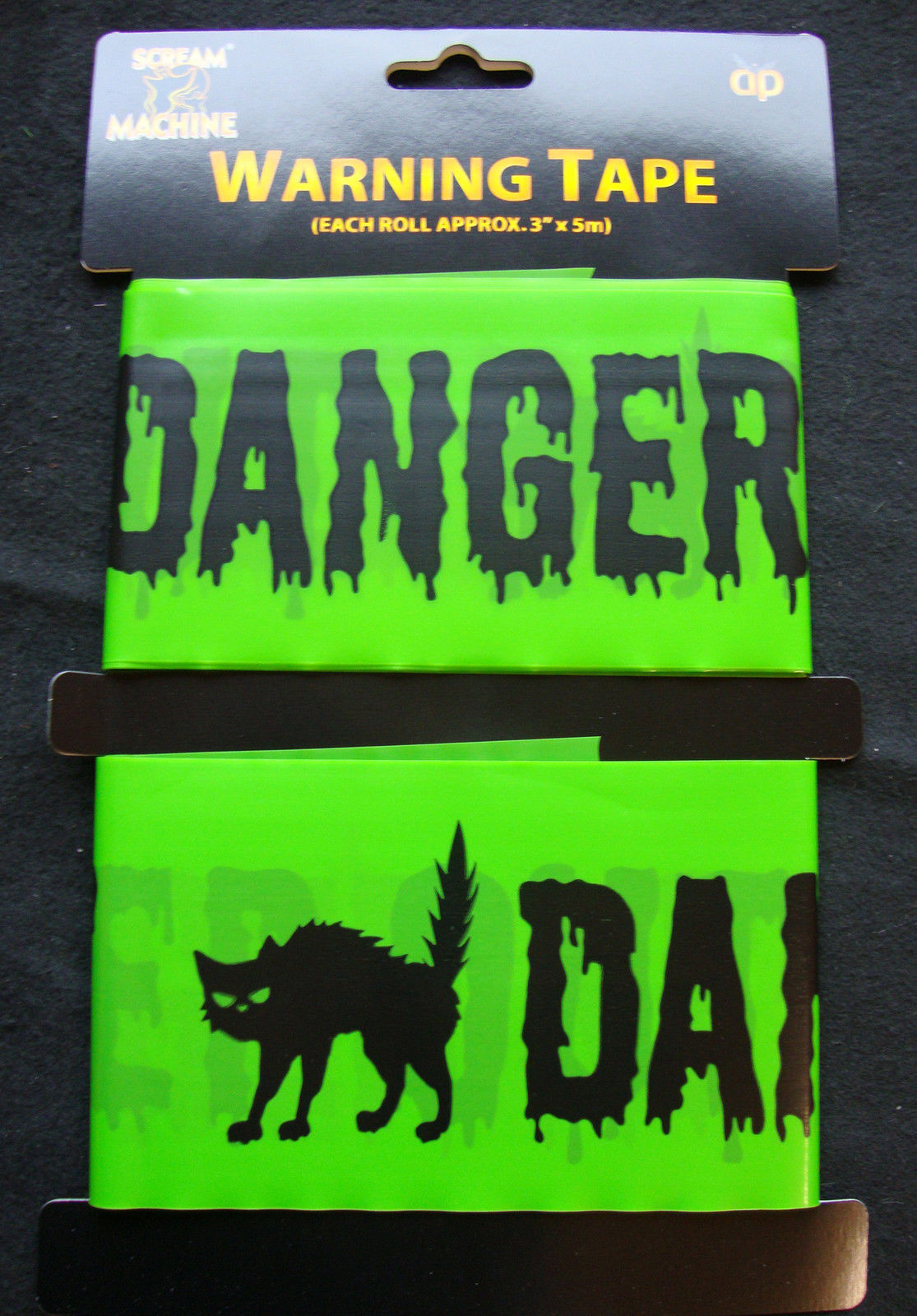 Halloween Decorations Caution Vampires Warning Keep Out Fright Tape FREE P/&P