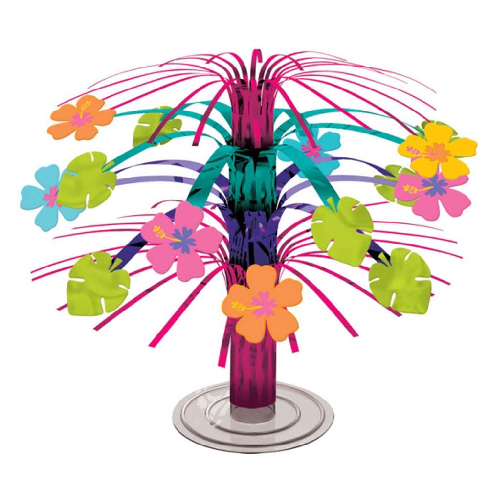 Hawaiian hibiscus flowers foil centrepiece party table decorations hawaiian hibiscus flowers foil centrepiece party table decorations bright colour izmirmasajfo