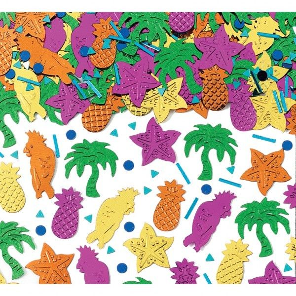 Details about HAWAIIAN Table confetti Sprinkles Tropical Island Party  Confetti FREE P&P