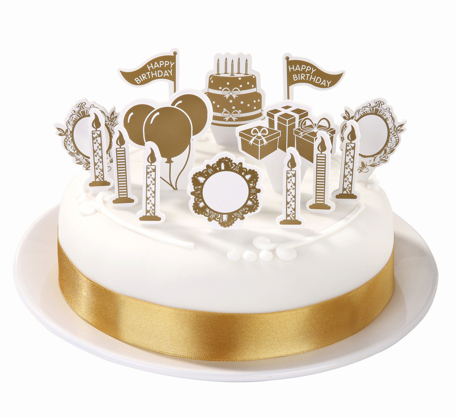Golden Wedding Cake cucpake topper Decorations Birthday Gold cake ...