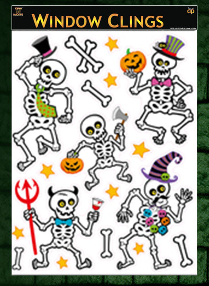 halloween window cling stickers halloween glitter window stickers decorations
