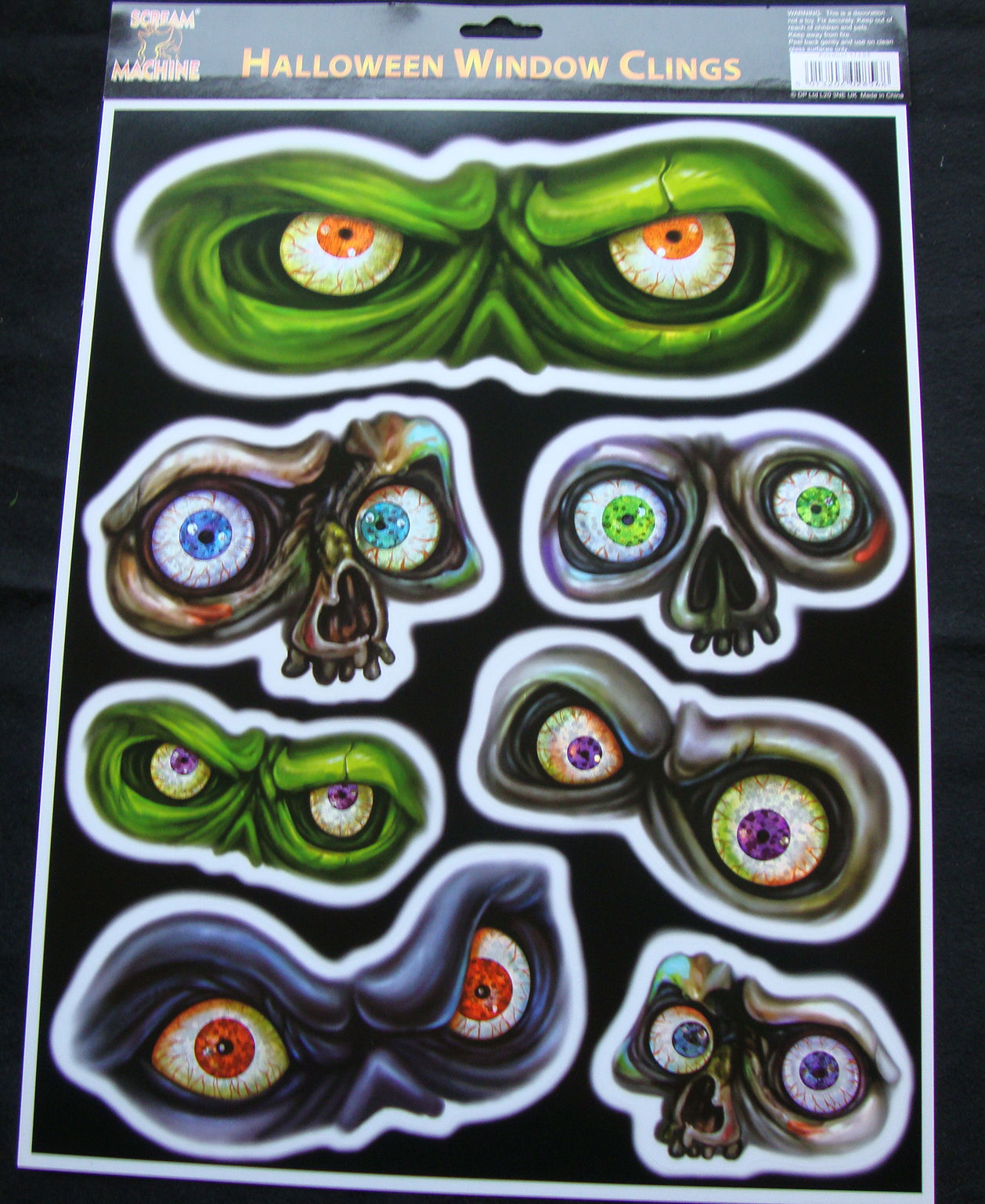 spooky eyes halloween window cling stickers cheap halloween party decorations