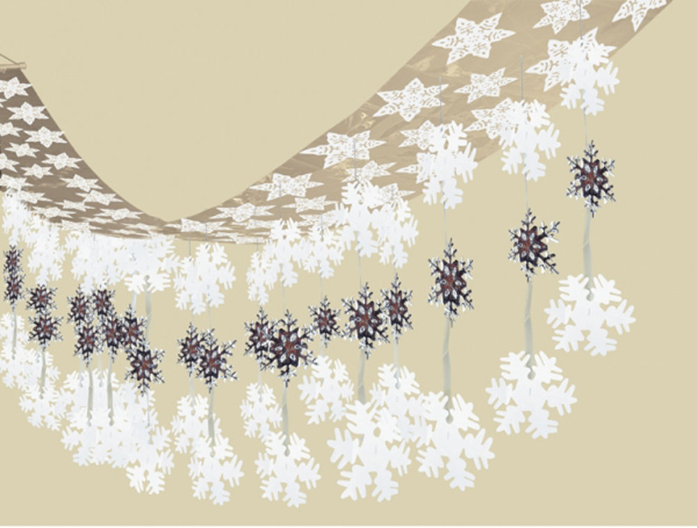 Let It Snow Frozen Snowflakes Large Ceiling Hanging Decoration