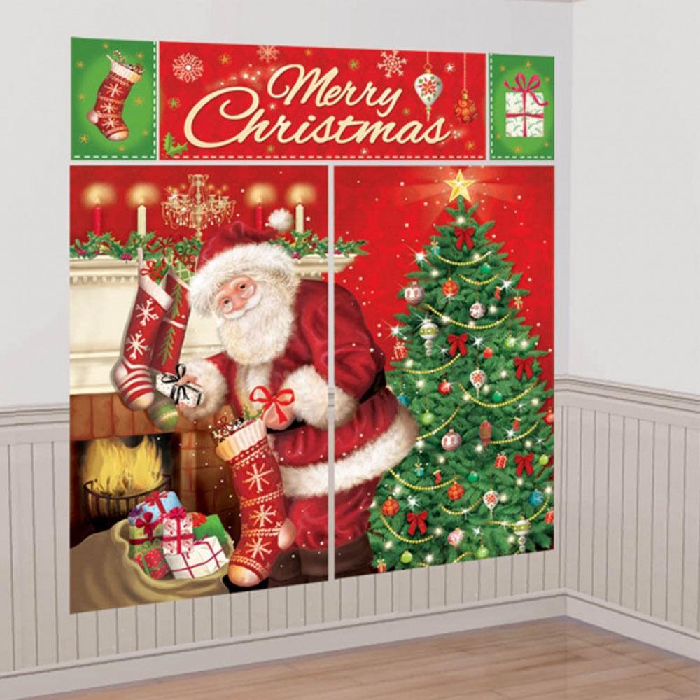 Magical Christmas Szene Party Wand Dekoration Hintergrund ...