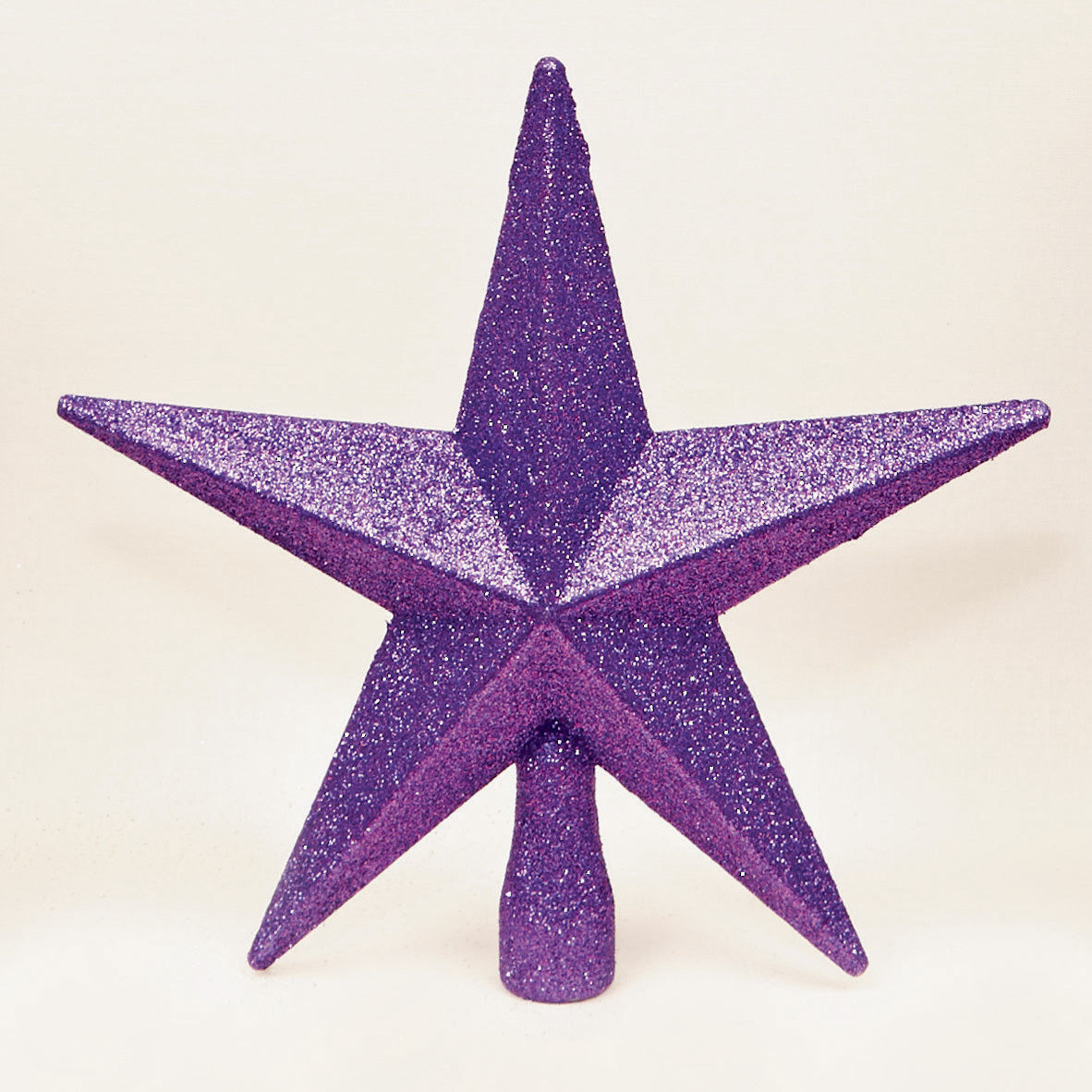 Best Price On Christmas Trees: PURPLE Christmas Tree Top Star Topper Glitter Finish