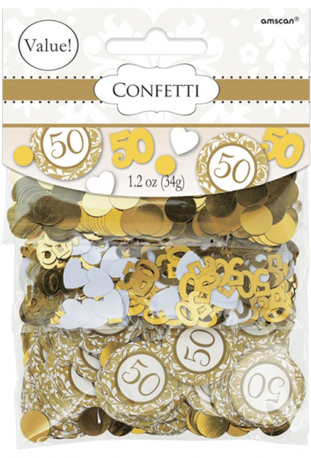 Dettagli Su Nozze D Oro Coriandoli Da Tavolo 50 Anniversario Decorazioni Per La Tavola