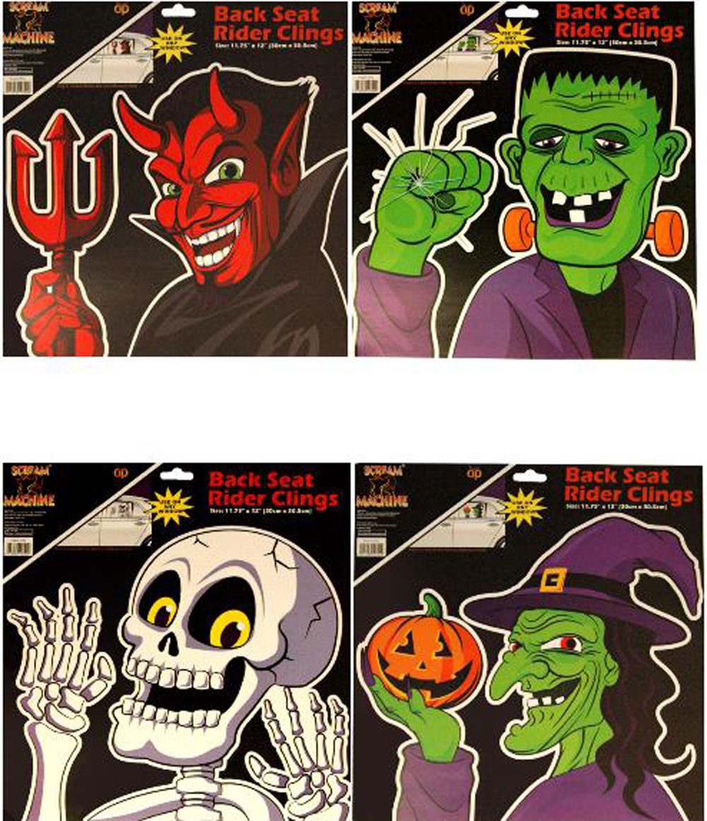 halloween car window stickers party window decorating ideas