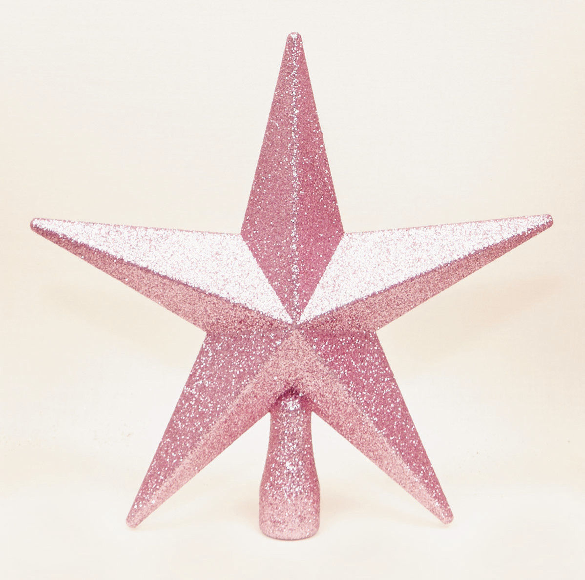 Star For Tree Part - 38: Pale Pink Christmas Tree Top Star Topper Glitter Finish 20cm Star For Top  Tree