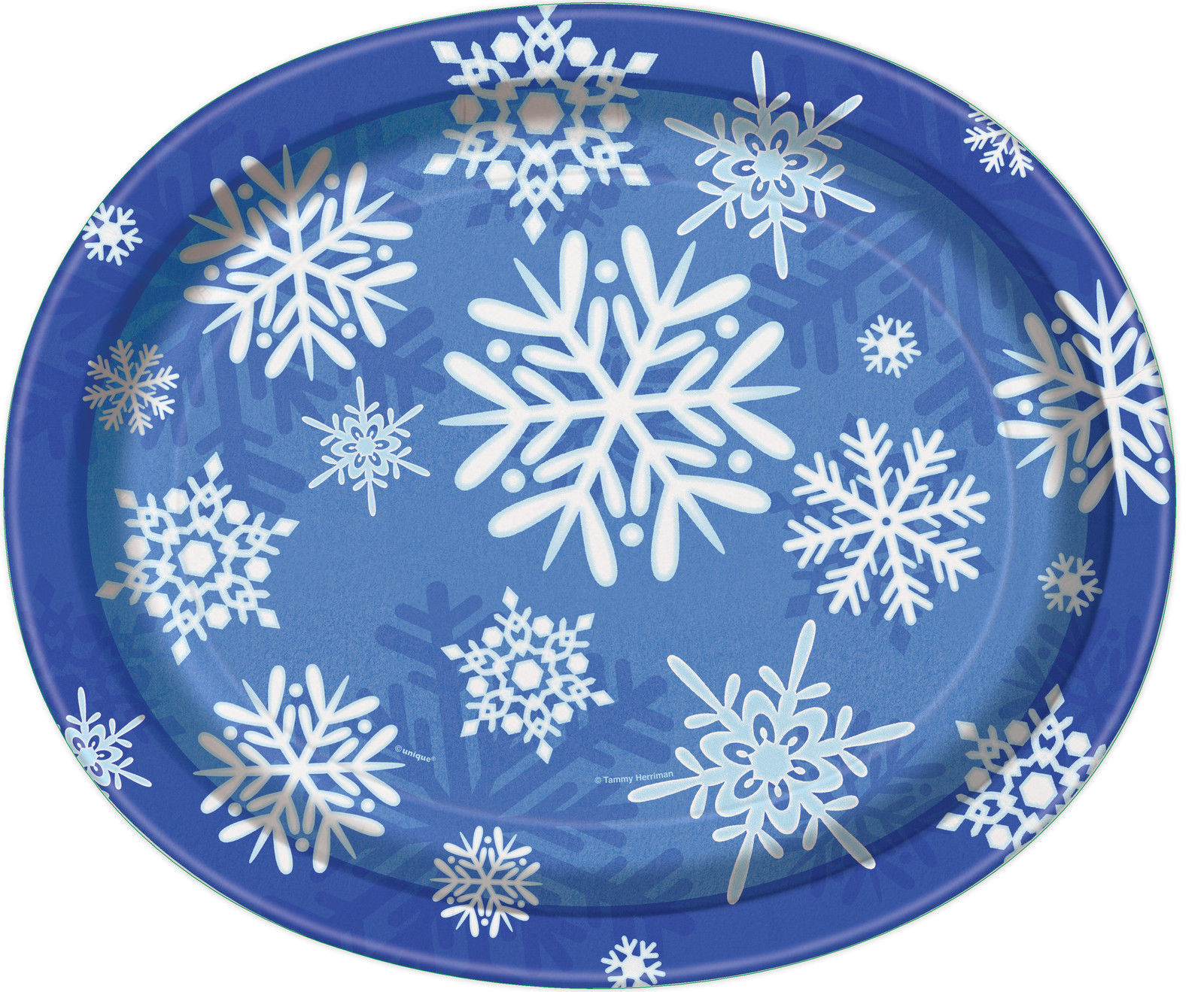Christmas Platter Plates.Details About 8 X Large Oval Christmas Buffet Serving Platter Plates Blue White Snowflakes
