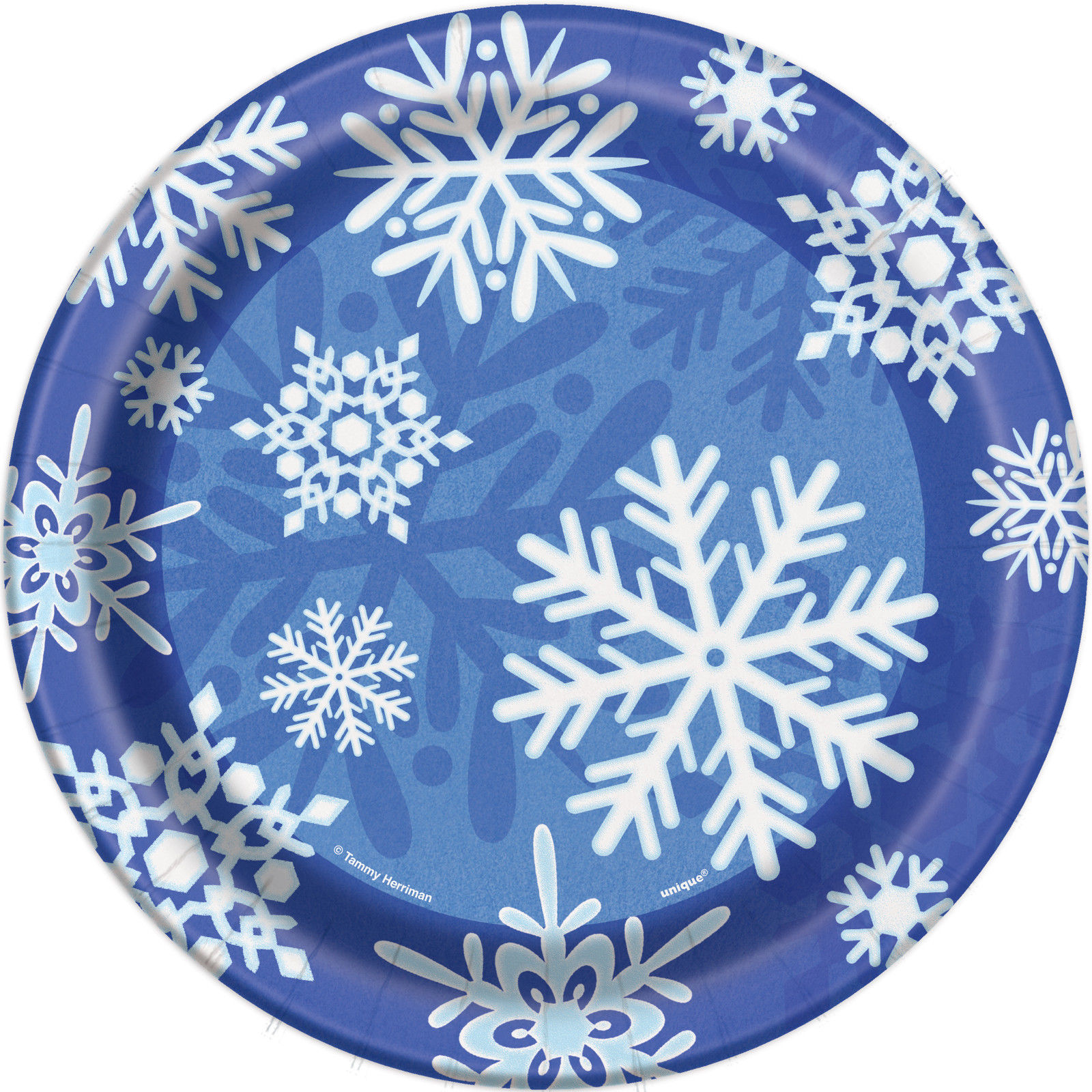 8 x Blue u0026 White Frozen Snowflakes Paper Plates 7  sc 1 st  eBay & 8 x Blue u0026 White Frozen Snowflakes Paper Plates 7
