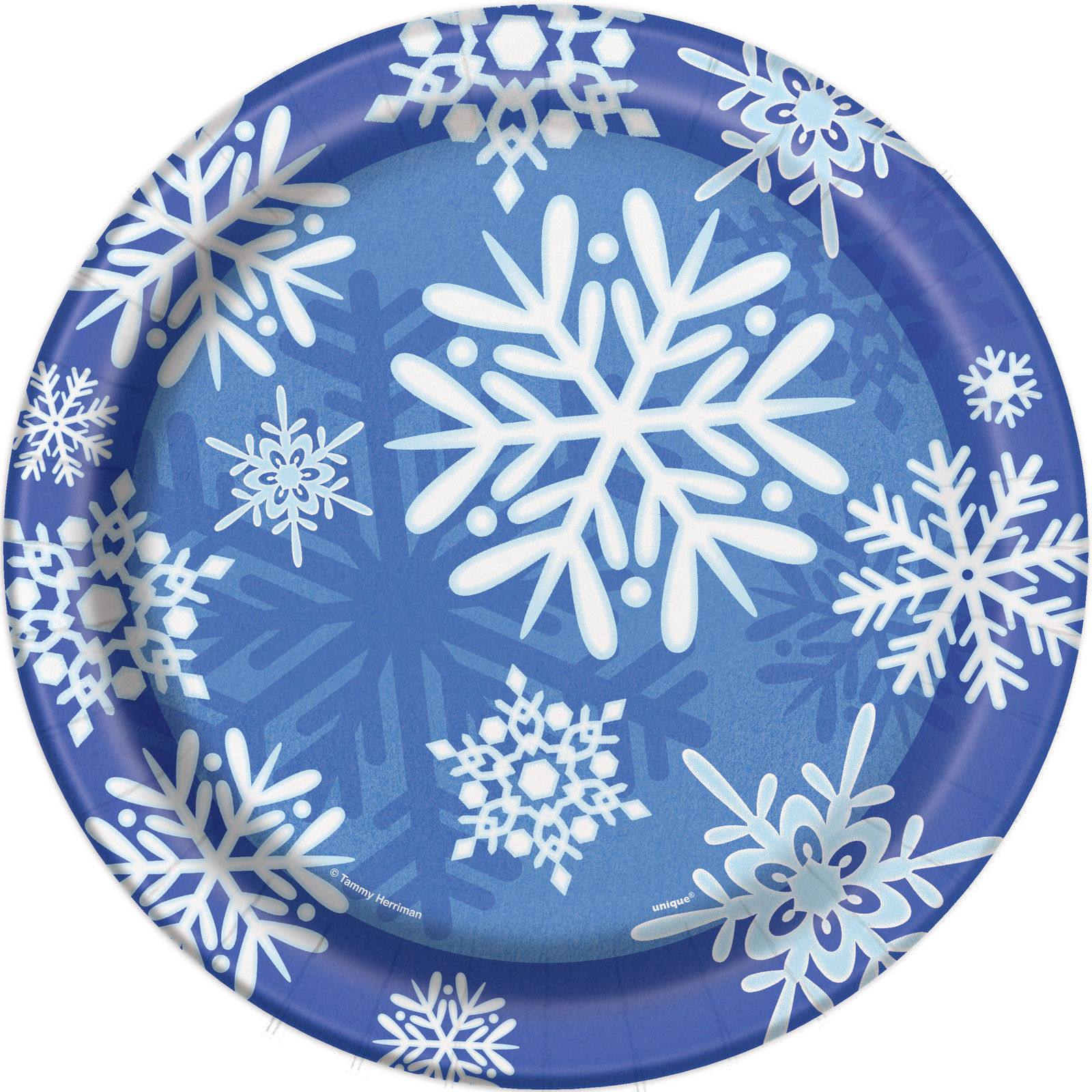 8 x Blue u0026 White Frozen Snowflakes Paper Plates 9  sc 1 st  eBay & 8 x Blue u0026 White Frozen Snowflakes Paper Plates 9