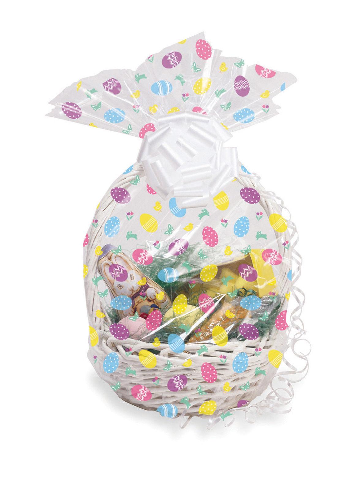 Easter eggs hamper wrap cellophane basket gift wrap large cello easter eggs hamper wrap cellophane basket gift wrap large cello basket bag negle Choice Image