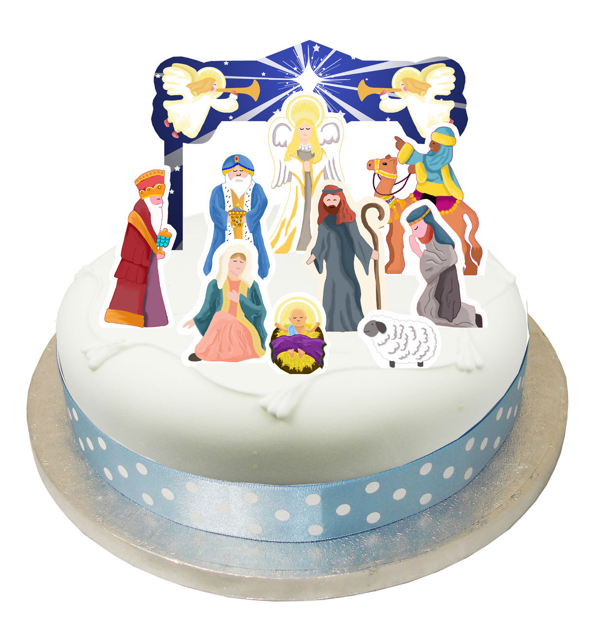 christmas wedding cake toppers uk 10 x nativity cake decorations toppers pop tops 12844