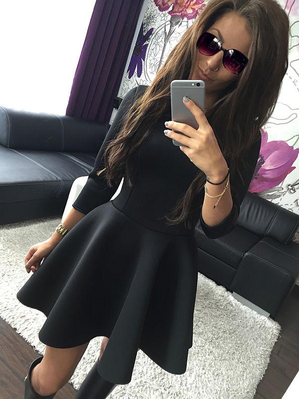 c64fa0eefe Sentinel UK Women 3/4 Sleeve Skirt Dress Ladies Evening Party Mini Skater  Dress Size 6