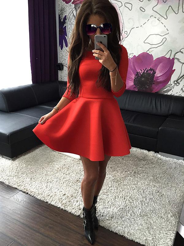 Sentinel UK Women 3 4 Sleeve Skirt Dress Ladies Evening Party Mini Skater  Dress Size 6 543580b52