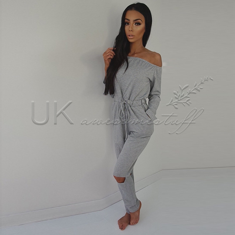 13aed275475 Sentinel UK Womens Off Shoulder Jumpsuit Ladies Evening NightOut Party  Playsuit Size 6-20