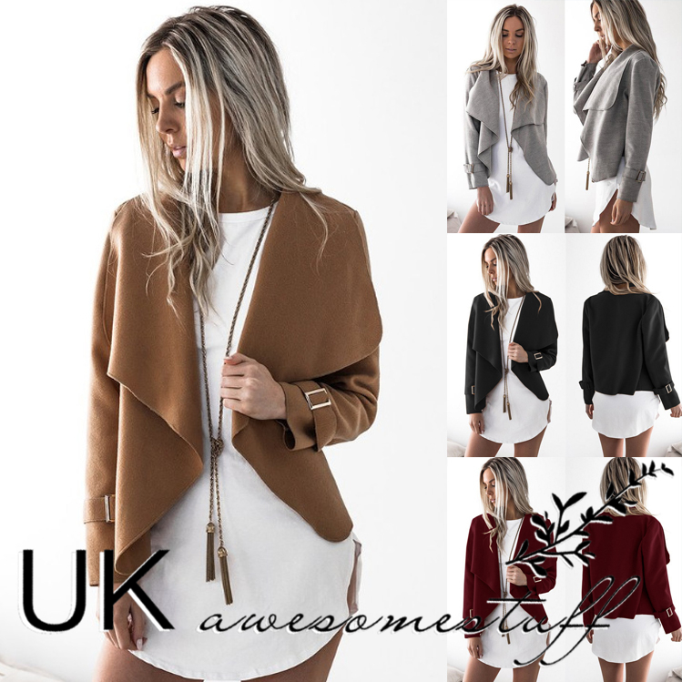 Uk Womens Christmas Faux Suede Style Short Jacket Ladies