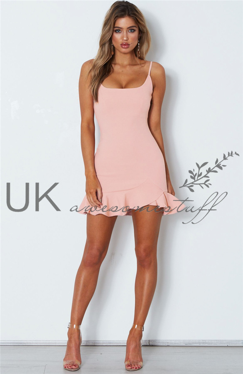 Sentinel UK Womens Plunge Bodycon Mini Dress Ladies Evening Party Mermaid  Dress Size 6-14 4ad57b9ce