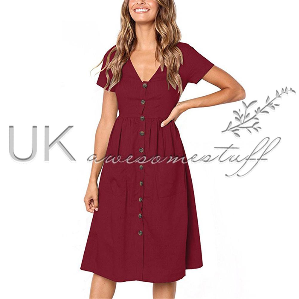 button up summer dress