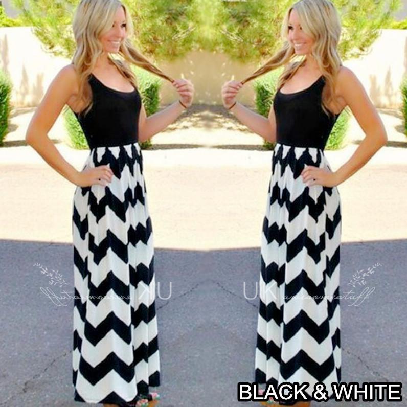 840ba2922853e Details about UK Womens Celeb Sexy Boho Long Maxi Dress Ladies Summer Beach  Party Sun Dress