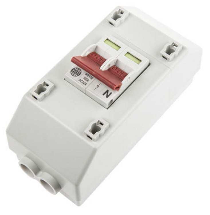 Wylex 100a Dp Mains Switch  U0026 Enclosure Supply Isolator