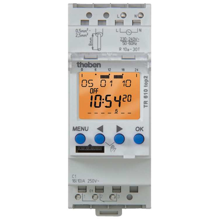Timeguard TR610TOP2 24 Hr/7 Day 1 Channel 16A Digital Timeswitch